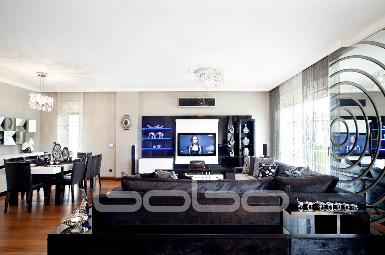 Polo Dining Room, Bobo Corner Sofa And TV Unit · Bobo Leather Sofa